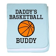 Daddys Basketball Buddy baby blanket