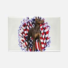 Dobie Patriotic Rectangle Magnet