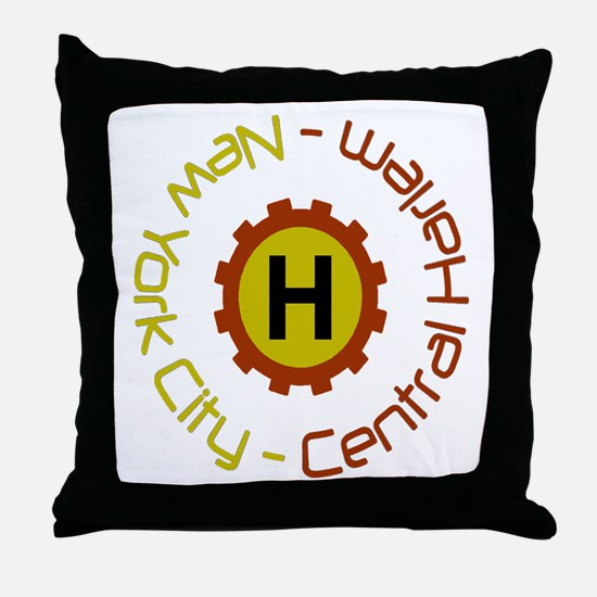 """""""Click Here CENTRAL HARLEM"""" Throw Pillow"""