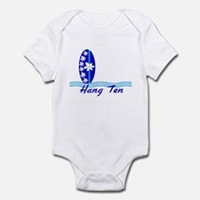 Hang Ten w/ Blue Surfboard Baby/Toddler Bodysuit