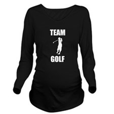 Team Golf Long Sleeve Maternity T-Shirt