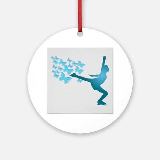 Skating LAdy Ornament (Round)