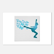 Skating LAdy Postcards (Package of 8)