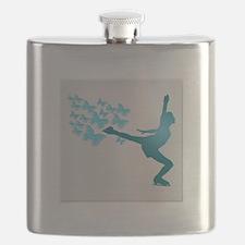 Skating LAdy Flask