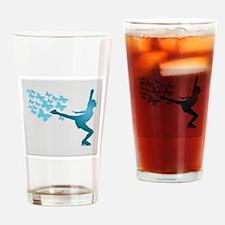 Skating LAdy Drinking Glass