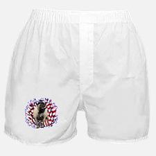 Pug Patriotic Boxer Shorts