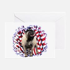 Pug Patriotic Greeting Cards (Pk of 10)