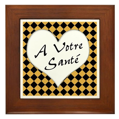A Votre Sante Framed Tile