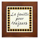 Famille Toujours Framed Tile