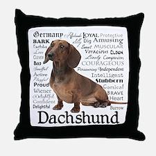 Dachshund Traits Throw Pillow