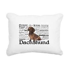 Dachshund Traits Rectangular Canvas Pillow