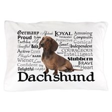 Dachshund Traits Pillow Case