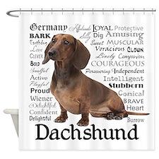 Dachshund Traits Shower Curtain