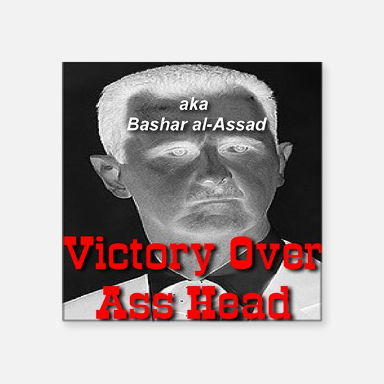 "Victory Over Ass Head aka B Square Sticker 3"" x 3"""