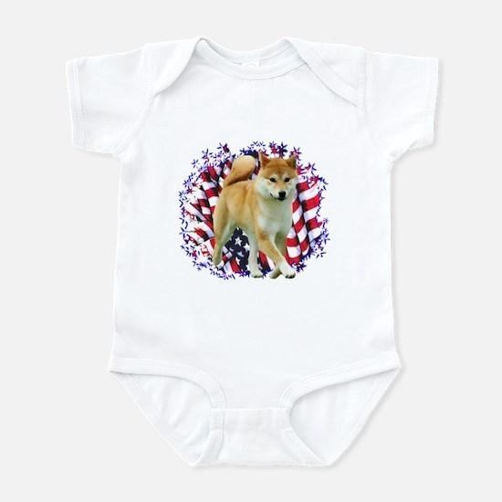 Shiba Patriot Infant Bodysuit