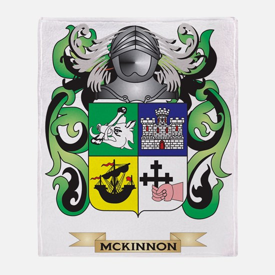 McKinnon Coat of Arms - Family Crest Throw Blanket