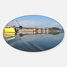 Lock  Dam 13 Sticker (Oval)