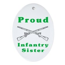 infrantry sister Oval Ornament