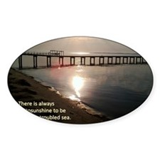Sunrise Sea and Sky Haiku Decal