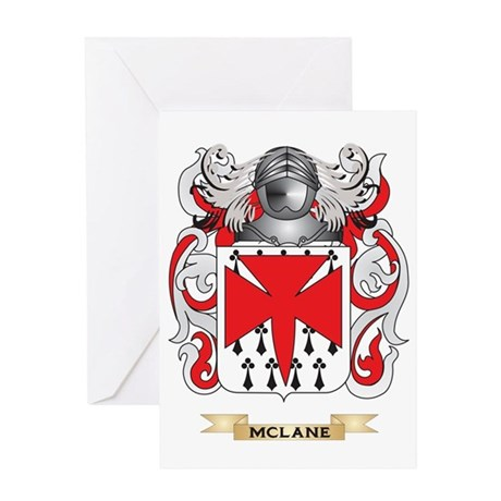 McLane Coat of Arms - Family Crest Greeting Card