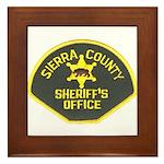 Sierra County Sheriff Framed Tile