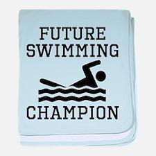 Future Swimming Champion baby blanket