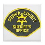 Sierra County Sheriff Tile Coaster