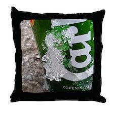 IcedCarlsber Throw Pillow