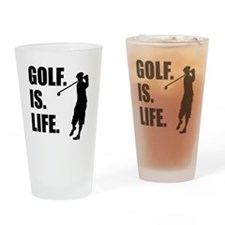 Golf Is Life Drinking Glass