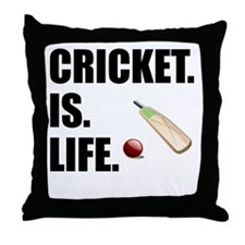 Cricket Is Life Throw Pillow