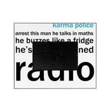 OK Computer Karma Police words blue  Picture Frame