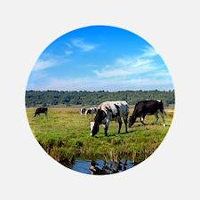 """Beautiful Cow Landscape 3.5"""" Button"""