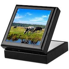 Beautiful Cow Landscape Keepsake Box