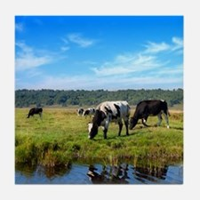 Beautiful Cow Landscape Tile Coaster