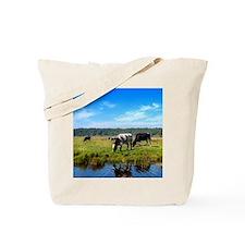 Beautiful Cow Landscape Tote Bag