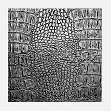 Crocodile Leather Tile Coaster