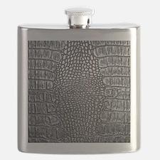 Crocodile Leather Flask