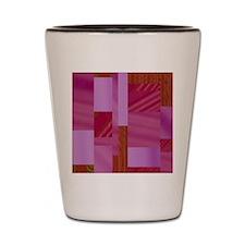 mixed pattern,red Shot Glass