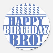 Happy Birthday Brother Round Car Magnet