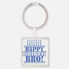 Happy Birthday Brother Square Keychain