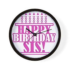 Happy Birthday Sister Wall Clock