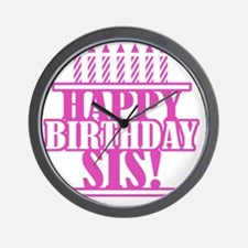 Happy Birthday Sister Wall Clock