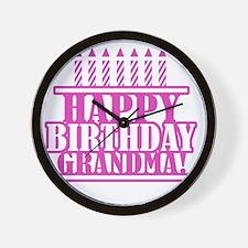 Happy Birthday Grandma Wall Clock
