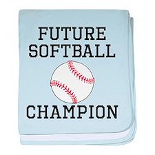 Future Softball Champion baby blanket