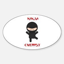 Ninja Chemist Sticker (Oval)