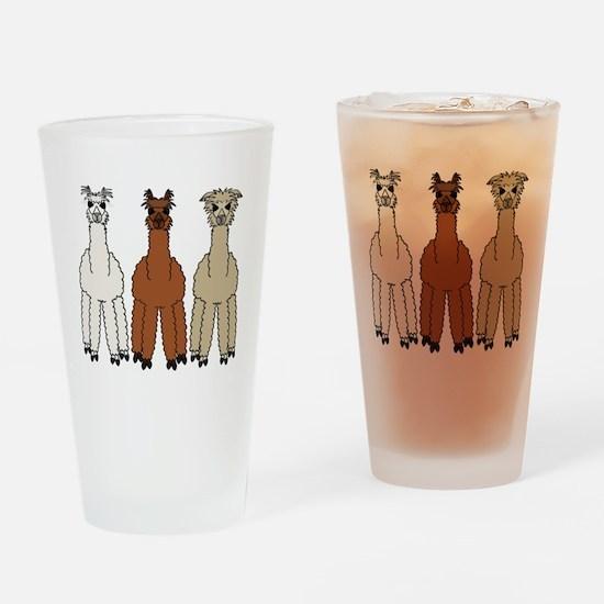 alpaca - no text Drinking Glass