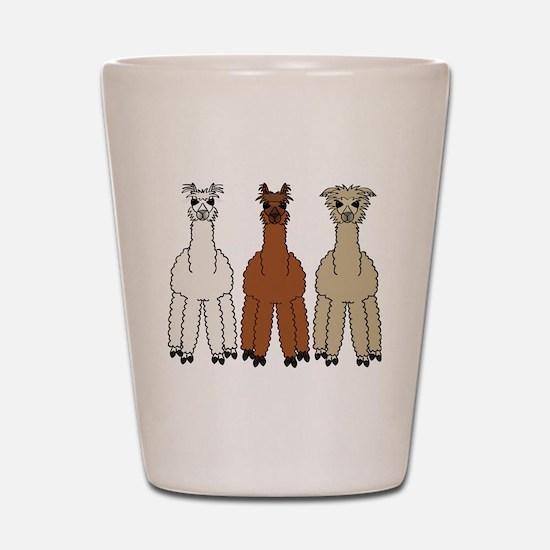 alpaca - no text Shot Glass