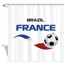 Soccer 2014 FRANCE 1 Shower Curtain