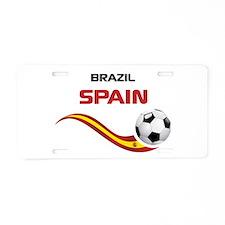 Soccer 2014 SPAIN Aluminum License Plate