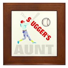 Baseball players aunt Framed Tile